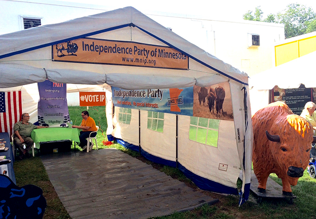 The Independence Party of Minnesota booth.