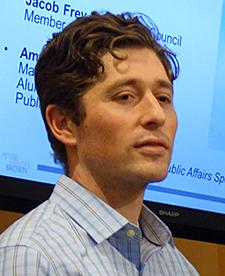 Jacob Frey at the Humphrey panel.