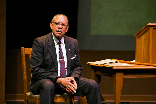 "James Craven as Thurgood Marshall in ""Thurgood"""