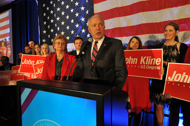 Rep. John Kline speaking on Election Night 2014.