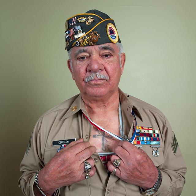 Marine veteran John Obregon