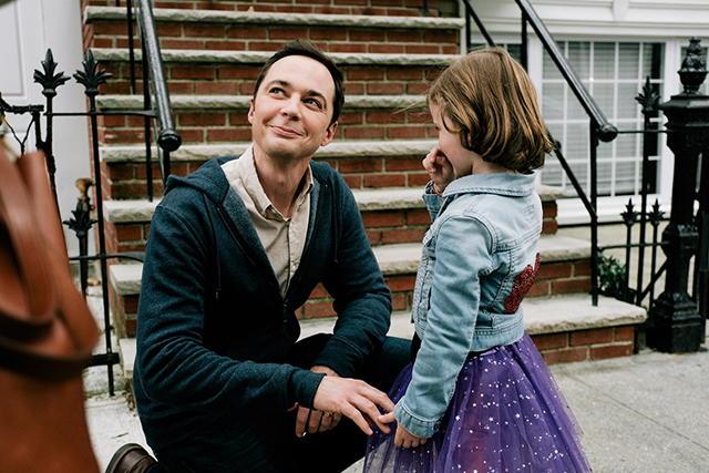 "Jim Parsons and Leo James Davis in a scene from ""A Kid Like Jake."""