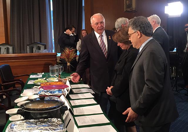 Rep. John Kline, Sen. Amy Klobuchar and Sen. Al Franken