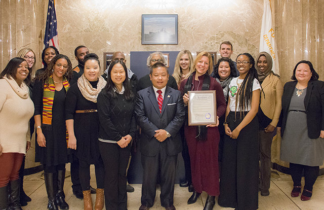 A picture of Kofi Services staff in City Hall