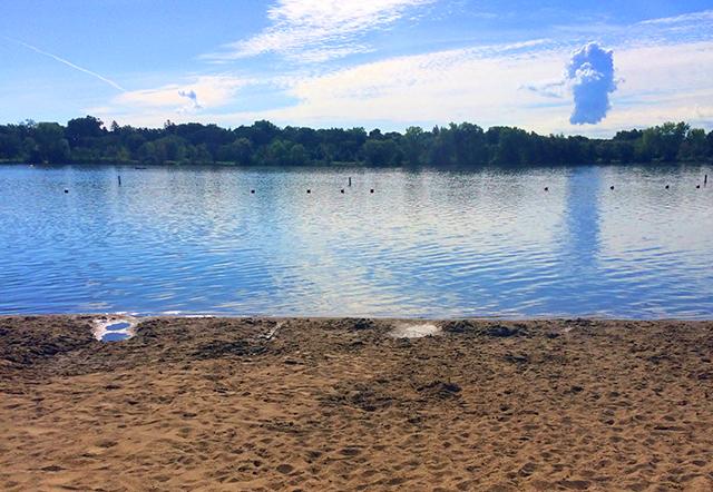Main beach at Nokomis: jump in.