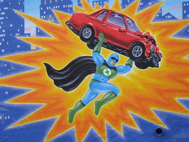 Lake Street auto dealer mural