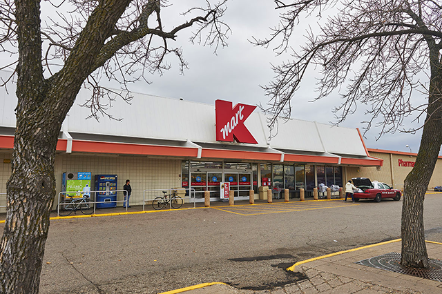 The Kmart shopping center at 30 W. Lake Street.