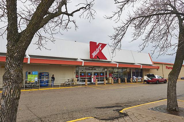 The Kmart shopping center at 30 W. Lake Street.