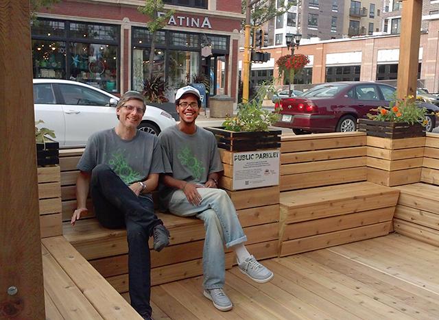 Friendly Street Initiative director Lars Christiansen and organizer Darius Gray
