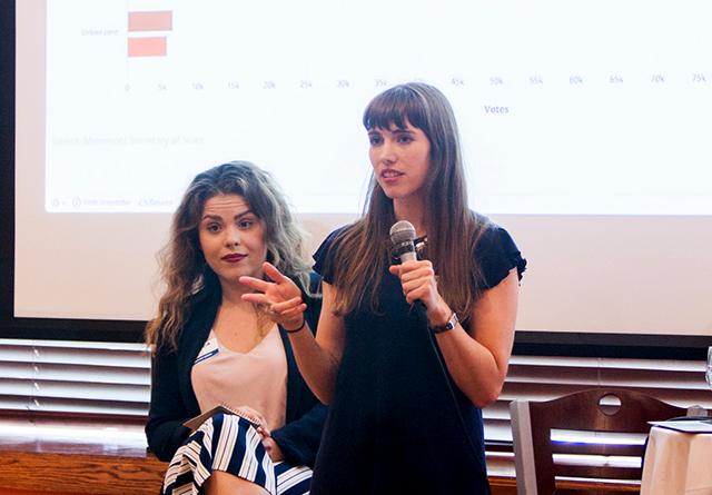 Local government reporter Jessica Lee and data reporter Greta Kaul