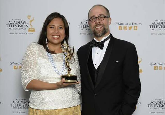 Documentary producer Leya Hale and ClearWay Minnesota's Adam Kintopf