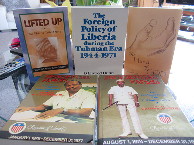 Liberia-themed publications from the Holder library