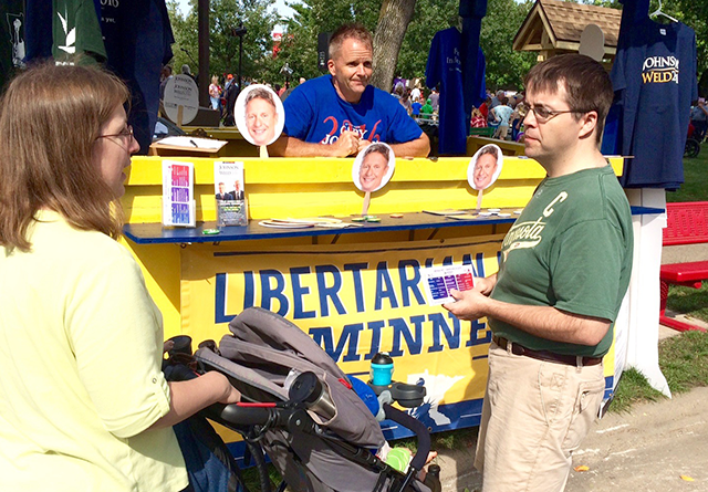 The Libertarian Party of Minnesota booth.