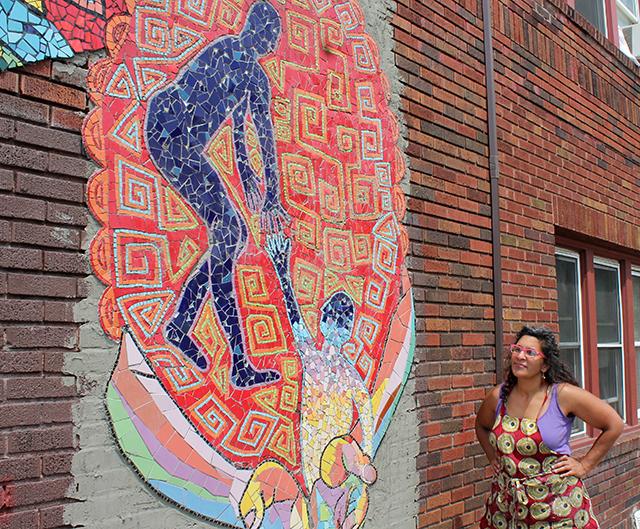 Mosaic artist Lori Greene