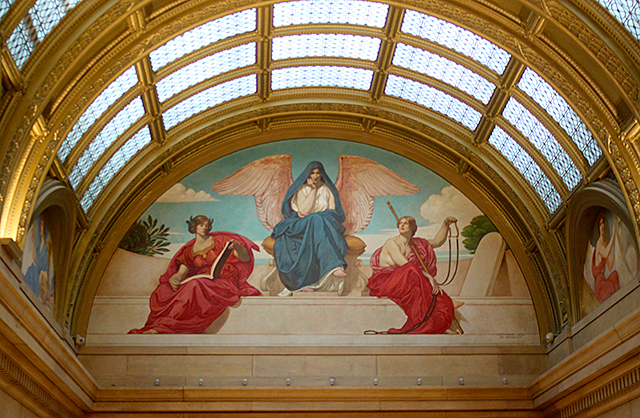 Murals around the Capitol have also been restored to their original colors