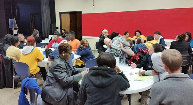 Parents attending a Minnesota Comeback Public Allies event.