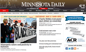 Minnesota Daily home page