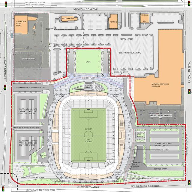 Minnesota United FC soccer stadium Opening Day site plan