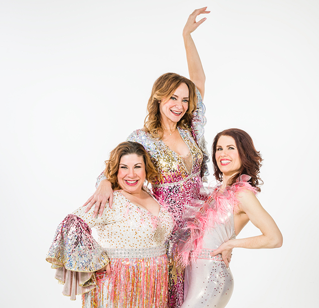 "Erin Schwab, Christine Sherrill and Ann Michaels in ""Mamma Mia!"""