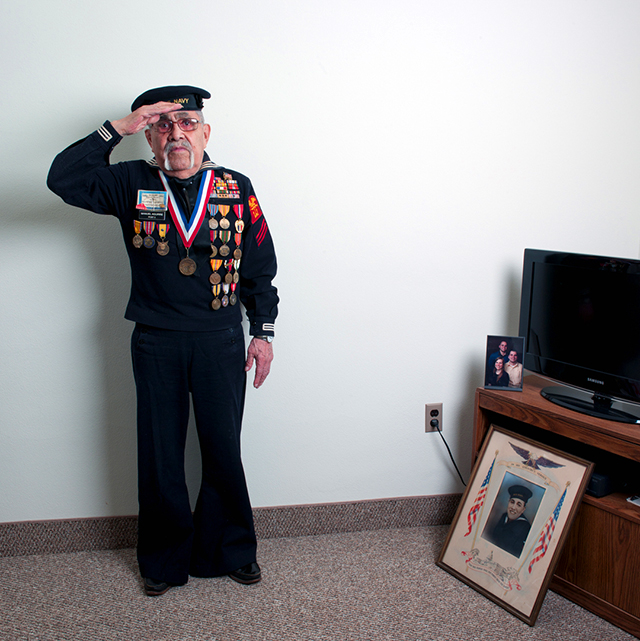 Navy veteran Manuel Aguirre