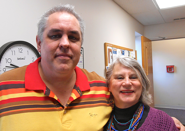 Elder Mark Aamot and office manager Cheryl Anderson