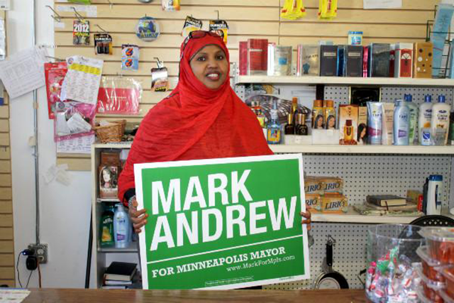 Mark Andrew lawn sign