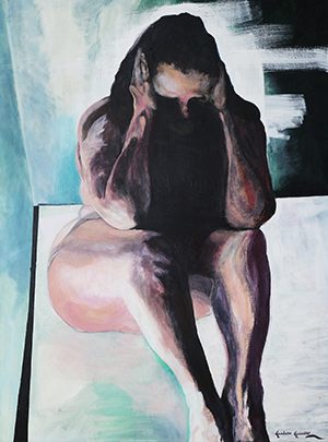 """""""Me Before Me"""" by Kandace Krause, acrylic on canvas"""