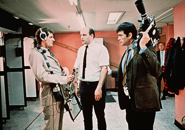 """Peter Bonerz, Peter Boyle and Robert Forster in a scene from """"Medium Cool."""""""