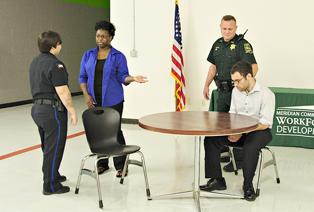 Scenes from role-playing CIT training in Memphis in August 2014.