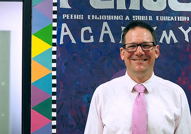 P.E.A.S.E. Academy director Michael Durchslag