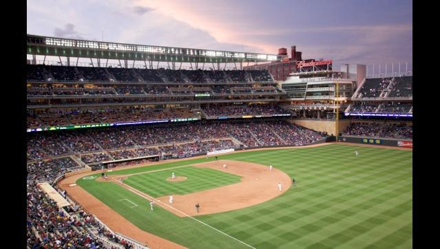 The view of Target Field from the Minnesota Ballpark Authority suite.