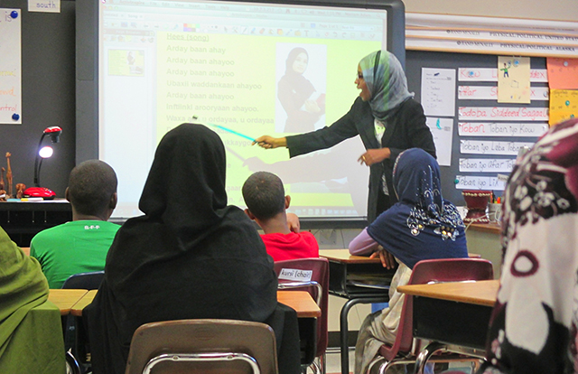 Somali co-teacher Miriam Adam
