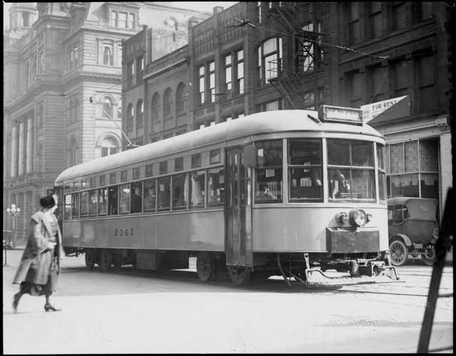 Mpla streetcar, 1923