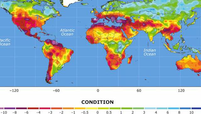NCAR drought map