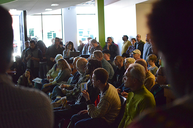 A crowd of more than 50 people attended the Oct. 8 meeting