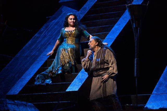 Liudmyla Monastyrska and Plácido Domingo