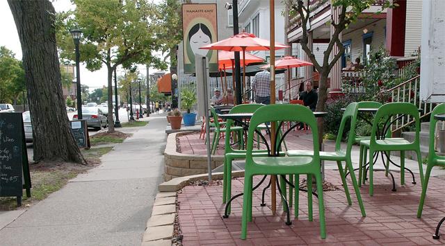 Namaste Cafe outdoor patio