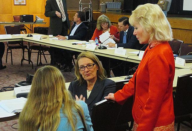Mayor Nancy Tyra-Lukens, Met Council Member Jennifer Munt