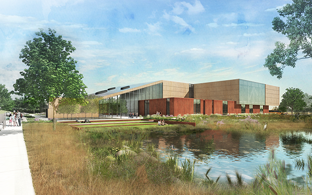 A rendering of the new Bell Museum.