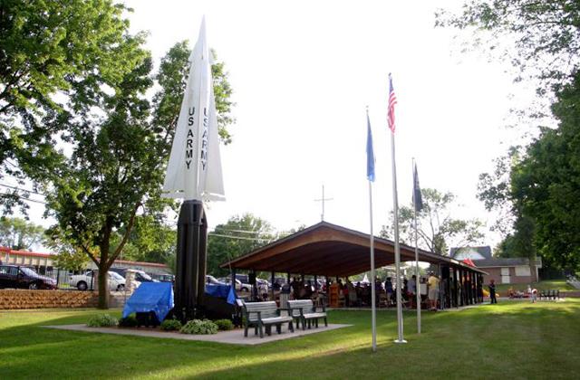 The Nike missile on display near downtown St. Bonifacius.