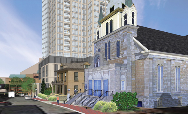 Neighbors objected to the 29-story apartment tower proposed for the Nye's site.