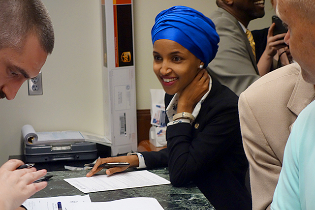 State Rep. Ilhan Omar filing for the U.S. House seat