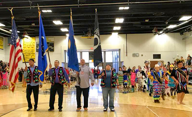 A pow wow was held at Onamia Public Schools in May.