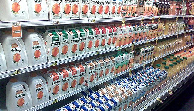 Orange juice aisle