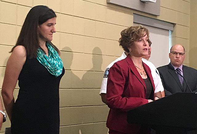 Council Member Linea Palmisano and Mayor Betsy Hodges