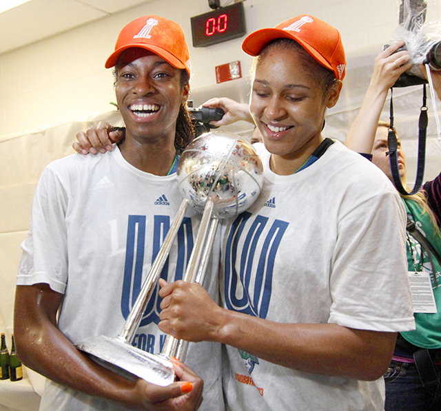 Forwards Devereaux Peters and Maya Moore