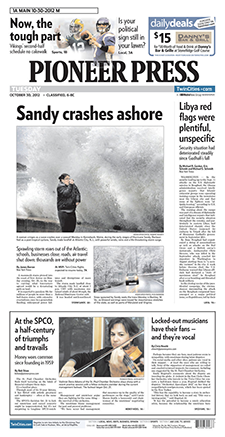 Pioneer Press front page
