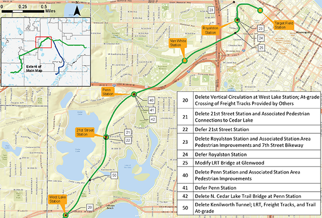 Potential cost-saving reductions to Southwest LRT in Minneapolis