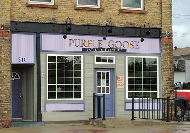 Purple Goose, a pub-style restaurant in downtown Barnesville.