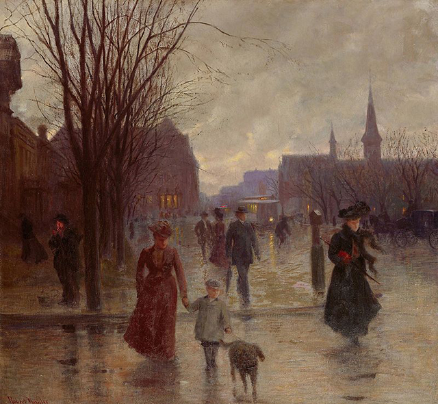 """Rainy Evening on Hennepin Avenue"" by Robert Koehler"